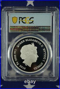 2019-P $1 Tuvalu Maggie Simpson 1 oz Silver Proof Coin PCGS PR70DCAM + COA + Box