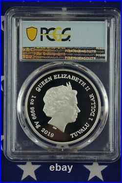 2019-P $1 Tuvalu Marge Simpson 1 oz Silver Proof Coin PCGS PR70DCAM + COA + Box