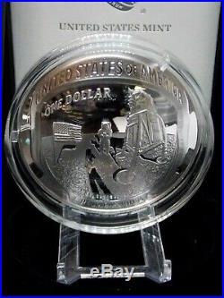 2019 P 5 oz Apollo 11 50th Anniversary Proof Silver $1 Box & COA ECC&C, Inc