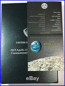 2019 P Apollo 11 Commemorative 5 Oz Proof Silver $ Coin (Sealed Box of 5)