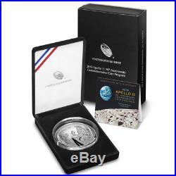 2019-P Proof $1 Apollo 11 50th Anniversary 5oz. Silver Dollar Box, OGP & COA
