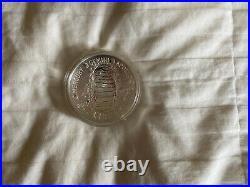 2019-P Proof Apollo 11 50th Anniversary 5 Oz Silver Coin Complete BOX & COA
