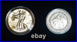 2019 Pride of Two Nations 2pc Silver Proof Eagle & Maple Leaf with OGP Box & COA