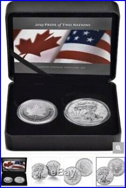 2019 RCM Pride of Two Nations Silver Reverse Proof Set Brand New OGP Box & COA