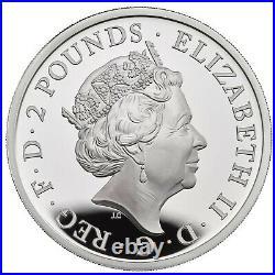 2019 Royal Mint Britannia £2 Two Pound Silver Proof 1oz Coin Box Coa