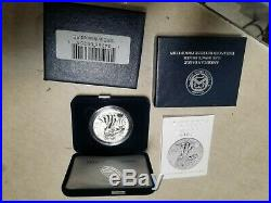 2019-S 19XE Enhanced Reverse Proof Silver Eagle Boxes & Numbered COA #S1107