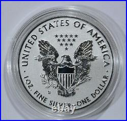 2019-S 19XE Enhanced Reverse Proof Silver Eagle with Box and Numbered COA PR