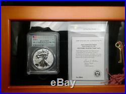 2019-S $1 American Silver Eagle Enhanced Reverse Proof PR69 FDOI PCGS COA in Box