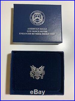 2019-S American Eagle $1 Silver Enhanced Reverse Proof- PCGS PR69. With Box & COA