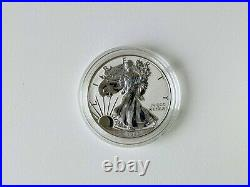 2019-S American Eagle One Ounce Silver Enhanced Reverse Proof Coin 19XE BOX COA
