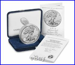2019 S American Eagle One Ounce Silver Enhanced Reverse Proof Coin UNOPENED BOX