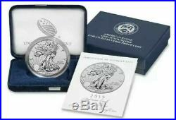 2019-S American Eagle Silver Enhanced Reverse Proof Coin IN HAND UNOPENED BOX