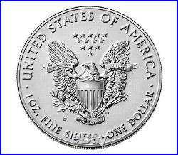 2019 S American Eagle Silver Enhanced Reverse Proof Unopened Box Rare