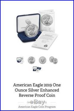 2019-S American Enhanced Reverse Proof Silver Eagle OGP Sealed Box