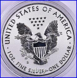 2019-S American Silver Eagle Enhanced Reverse Proof With Box & COA