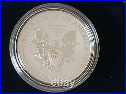2019 S American Silver Eagle Proof Coin Enhanced Reversed W Box & Numbered Coa