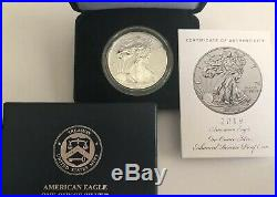 2019-S Enhanced Reverse Proof $1 American Silver Eagle WithUS Mint Box OGP & # COA