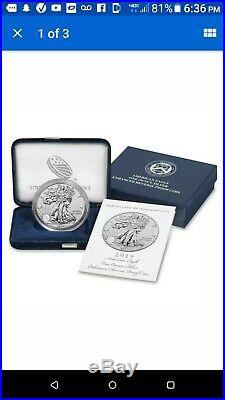 2019 S Enhanced Reverse Proof American Eagle One Ounce Silver In Hand-sealed Box