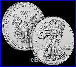 2019 S Enhanced Reverse Proof Silver Eagle 19XE BOX & COA MINTAGE 30,000