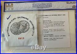 2019-S Enhanced Reverse Proof Silver Eagle Baltimore NGC PF70 BOX & COA #6610