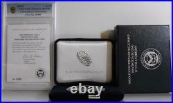 2019-S Enhanced Reverse Proof Silver Eagle Boxes, Capsule, COA No. 05386 No Coin