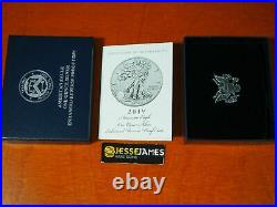 2019 S Enhanced Reverse Proof Silver Eagle Ngc Pf70 Brown Label With Box/coa