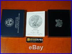 2019 S Enhanced Reverse Proof Silver Eagle Ngc Pf70 First Releases With Box/coa