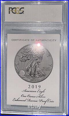 2019 S Enhanced Reverse Proof Silver Eagle PCGS PR69 First Strike with Box & COA