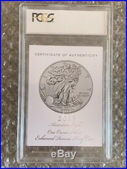 2019-S Enhanced Reverse Proof Silver Eagle PCGS PR70 First Strike with Box and COA
