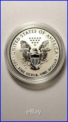 2019 S Enhanced Reverse Proof Silver Eagle With Box And Numbered Coa 19xe