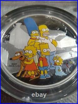 2019 Tuvalu The Simpson Family 2oz Silver Proof Coin $2 Box & CoA