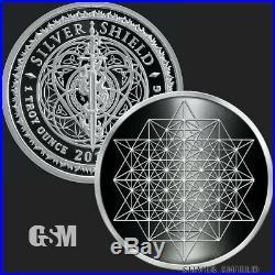 2020 1 oz Silver Proof Star Tetrahedron. 999 FINE SILVER COA & BOX PRESALE