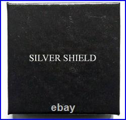 2020 2 oz. Monster Silver Round-Silver Shield CRYPTO AG Proof with COA & BOX