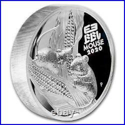2020 Australia 5 oz Silver Lunar Mouse Proof (HR, withBox & COA) SKU#201606