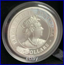 2020 Australia $8 High Relief Koala Proof 5 oz. 9999 Silver Coin Box & COA