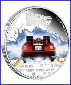 2020 Back to the Future 35th Anniversary Niue 1 OZ Silver Proof Box COA Ebucks