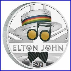 2020 Great Britain Music Legends Elton John £2 Silver Proof 1oz Coin Box Coa