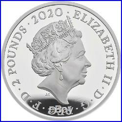 2020 Great Britain Music Legends Queen Error £2 Silver Proof 1oz Coin Box Coa