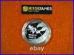 2020 Proof Silver Medal End Of World War II In Original Box/coa 1 Oz. 999 Ww2