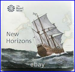 2020 Royal Mint Mayflower Piedfort £2 Two Pound Silver Proof Coin Box Coa