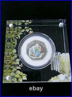 2020 Royal Mint Peter Rabbit Silver Proof 50p Fifty Pence Coin Box & Coa