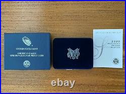 2020-S American Eagle One Ounce Silver Proof Coin with Box and COA (20EM)