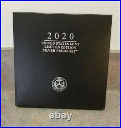 2020-S Limited Edition Silver US Mint Eight Coin Proof Set with Box and COA