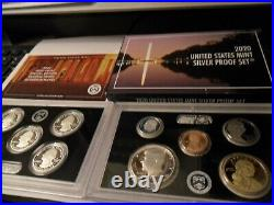 2020 S SILVER Full Proof set with Box and COA and Reverse Proof W Nickel