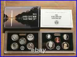 2020 S SILVER PROOF Set 10 Coins with BOX COA NO Reverse Jefferson Nickel