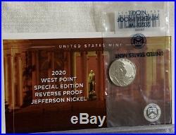 2020 S SILVER PROOF Set 11 Coins w BOX COA & W Reverse Jefferson Nickel Set 20RH