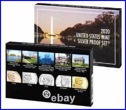 2020 Silver Proof Set 10 Coin. 999 Silver With Box and COA Ships in a Box