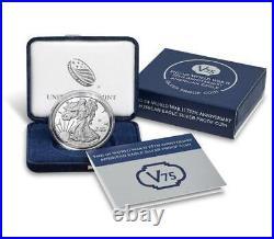 2020-W Proof $1 American Silver Eagle World War II 75th Anniversary Box OGP COA