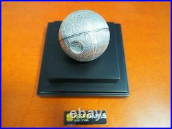 2021 $100 Niue Proof Star Wars Silver Death Star 1 Kilo. 999 W Original Box/coa