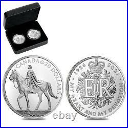 2021 2 oz Royal Celebration Proof Silver 2-Coin Set (withBox & COA)